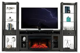 wall units stunning 4 piece entertainment wall unit ashley w271