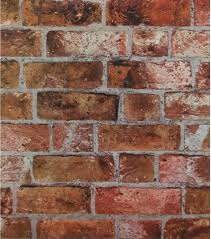 brick faux texture wallpaper industrial wallpaper by the