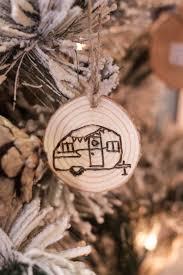 diy wood burned log slice ornaments bustamante