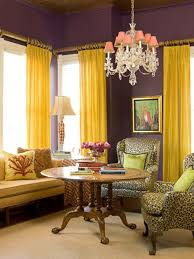 Yellow And Purple Curtains Purple And Yellow For The Bedroom Instead Room Plans