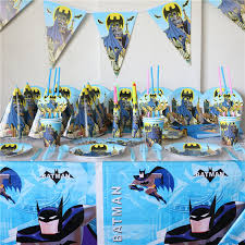 Batman Decoration 82pcs Batman Theme Luxury Boy Kids Birthday Decoration Party Set