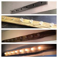 Barn Board Bathroom Vanity Barnboard Light Diy U2013 Mark U0027s Gym