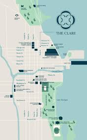 Map To Chicago by What U0027s Around The Clare In Downtown Chicago Il