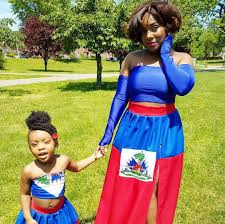 Jamaican Flag Day Custom Haiti Flag Maxi Skirt Haitian Dress Haitian Flag Day