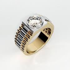 mens ring mens ring model with gemstone 004 cgtrader
