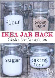 ikea kitchen canisters ikea jar hack easily customize your ikea korken jars
