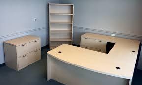 cubes2u hon u shaped maple top desk