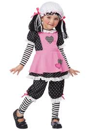 raggedy ann halloween makeup teen girls shattered doll halloween costume broken bell zombie