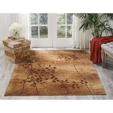 Brown And Beige Area Rug Farmhouse Rugs Birch Lane