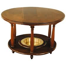 spanish neoclassical walnut and brass brazier table 19th century