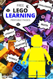 lego learning pages free printables kids