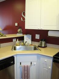 white corner kitchen sink decor