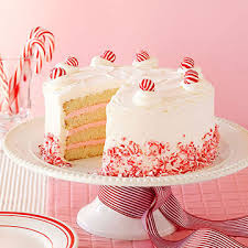 White Christmas Cake Ideas by White Christmas Peppermint Layer Cake Midwest Living