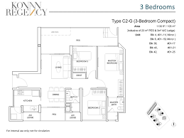 Compact Floor Plans 3 Bedroom Compact Pes Kovan Regency