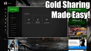 how to set up game sharing u0026 gold sharing on xbox one youtube