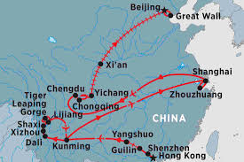 Kunming China Map by Splendours Of China China Tours Peregrine Adventures Us