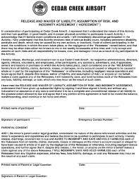 cedar creek airsoft printable waiver form