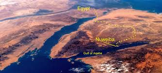 Gulf Of Aqaba Map Walking By The Spirit