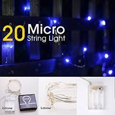 battery operated lights with timer amazon com lidore micro led 20 blue string lights with timer