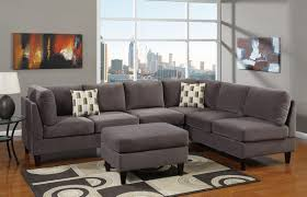 Gray Microfiber Sofa by Interior Deep Sofa Couch And Overstuffed Couches