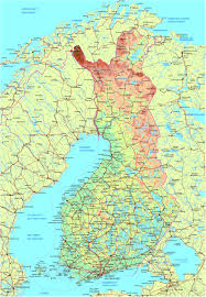 Physical Europe Map by Maps Of Finland Detailed Map Of Finland In English Travel Map