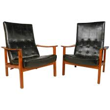 Swedish Leather Recliner Chairs Gustaf Axel Berg Lounge Chair Cotton Webbing Leather Sweden