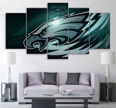 philadelphia eagles home decor 5piece canvas prints living room picture wall decor philadelphia
