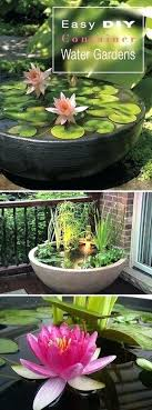 Container Water Garden Ideas Water Gardening Containers Jennybeautydiva Club