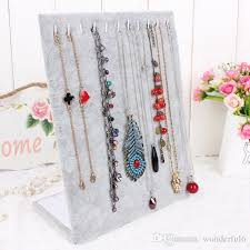 necklace organizer stand images 2018 high quality l shaped necklace stand jewelry pendants display jpg