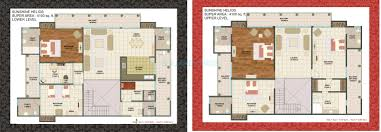 Penthouse Floor Plan by 5 Bhk 4100 Sq Ft Penthouse For Sale In Sunshine Helios At Rs