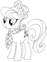 pony coloring pages elfkena deviantart