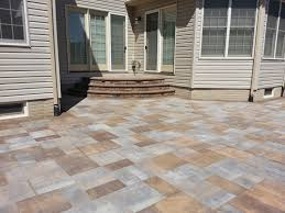 Lowes Paver Patio by Exterior Design Enchanting Cambridge Pavers With Sweet Flowers