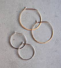 simple ear rings simple teardrop hoop earrings jewelry earrings elaine b
