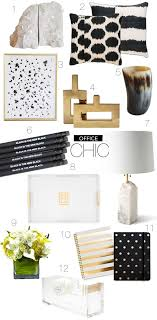 Black And White Desk Accessories Everything About This Office Inspiration Board Black And