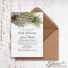 ls that look like trees winter forest wedding invitation printable pine tree wedding