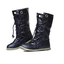 fashion motorcycle boots boots women s fashion lace up mid calf motorcycle boots stylenb