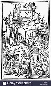 siege ulm middle ages warfare siege of a castle woodcut swabian chronicle