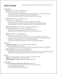Sample Resume In Doc Format