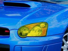 subaru headlight names 2004 2005 subaru wrx sti yellow headlight tint kit premium