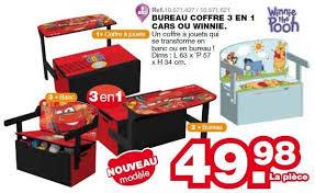 maxi bureau maxi toys promotion bureau coffre 3 en 1 cars ou winnie winnie