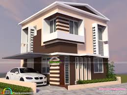 modern house design plans two storied modern house in small plot kerala home small plot