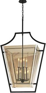 Large Foyer Chandelier Troy F5598 Domain Hand Worked Iron With Polished Chrome Detail