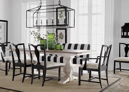 Black White Dining Table Chairs Back To Black And White Dining Room Ethan Allen