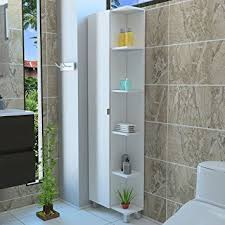 White Corner Bathroom Cabinet Rta Design 5 Side Shelves Corner Bathroom