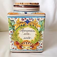 i m a ceramiche artistiche montelupo italy hand made ceramic i m a ceramiche artistiche montelupo italy hand made ceramic canister