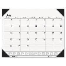 desk pad calendar 2017 monthly desk pad calendars ultimate office