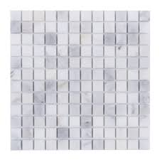 Shower Floor Mosaic Tiles by Carrara White Marble Tile 1 U201d Square Mosaic Diy Backsplash Shower