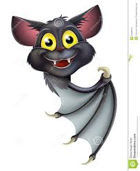 cute happy halloween sign halloween bat pointing stock photos image 32048973