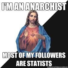 Halloween Birthday Meme - i m an anarchist most of my followers are statists christian