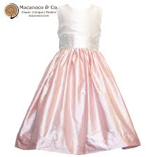 light pink silk dress kids white bodice light pink couture silk dress macanoco and co